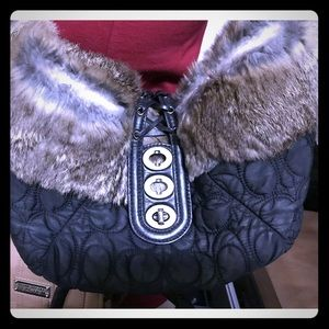 **Coming Soon** Coach Rabbit Fur Signature Purse